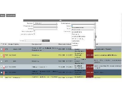 Lista zadań do wykonania w podziale na użytkowników, projekty, daty, etapy itp. - kliknij, aby powiększyć