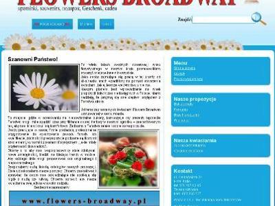 strona internetowa Flowers Broadway - kliknij, aby powiększyć