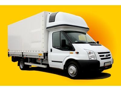 Ford Transit - Zabudowa samochodowa skrzyniowa z plandeką otwieraną z tyłu + sypialnia na kabinie. - kliknij, aby powiększyć