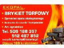 Sprzedaż brykietu torfowego, Janowiec,Puławy, lubelskie