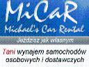 Wynajem Samochodów Osobowych i Dostawczych MiCaR , cała Polska