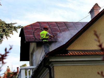 malowanie dachu i mycie dachówki - kliknij, aby powiększyć