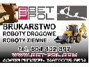 Brukarstwo, brukowanie, usługi koparko-ładowarką, Rybnik , Racibórz ,Wodzisław, śląskie