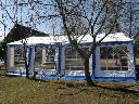 namiot biało-niebieski