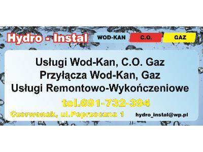 instalator wod-kan, c.o,  gaz, hydraulik, wykończenia