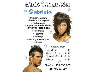 Salon fryzjerski Gabriela - kliknij, aby powiększyć