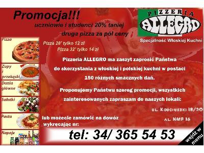 Pizzeria Allegro Wielkie Promocje Smaczne Dowoz Czestochowa Slaskie Favore Pl