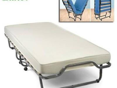 Łóżko dostawka hotelowa, łóżko polowe, łóżko składane z materacem dla gościa - kliknij, aby powiększyć