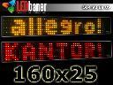 Reklama diodowa 160x25 - Panel LED, ekran diodowy, Tarnowskie Góry, śląskie