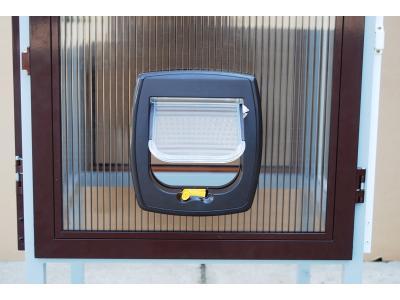 Drzwi moskitierowe z przejściem dla zwierząt - kliknij, aby powiększyć