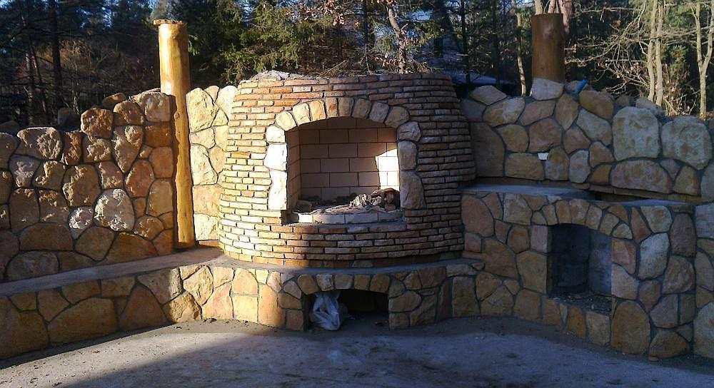 Świeże Ogrodzenie z kamienia, elewacja z piaskowca, grill, Radom, Pionki BZ73
