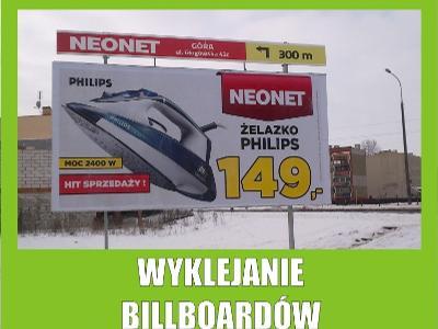 Oklejanie Billboardów, Wyklejanie Bilbordów, Druk BB, Głogów (dolnośląskie)