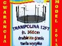 Trampoliny ogrodowe z siatką i drabinką, 366cm -699zł, 427cm -830zl