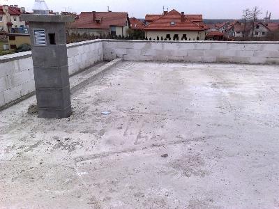 surowy strop Pap-Dach dachy płaskie Radom  - kliknij, aby powiększyć