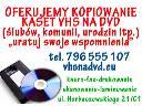 kopiowanie kaset vhs na dvd, Wrocław, dolnośląskie