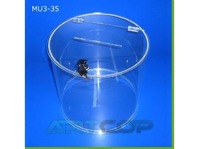 skarbona z plexi urna cylinder fi 35cm - Zdjęcie nr 1 - kliknij, aby powiększyć