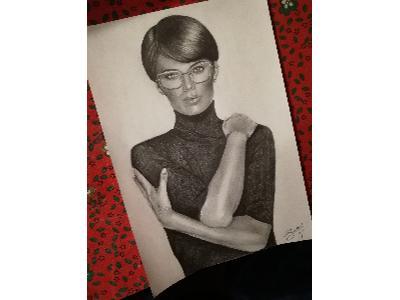 Portret ołówkiem na a4 - kliknij, aby powiększyć
