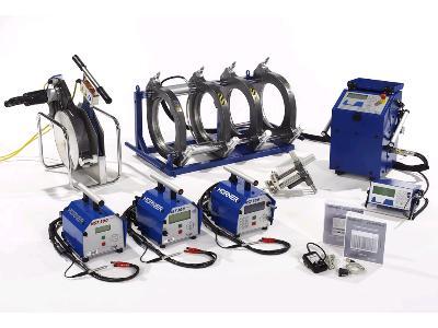 Zgrzewarki doczołowe i elektrooporowe do rur z PE, PP, PVDF - kliknij, aby powiększyć
