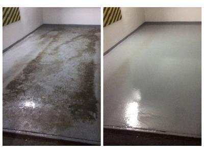 doczyszczanie maszynowe i konserwacja podłogi betonowej  - kliknij, aby powiększyć