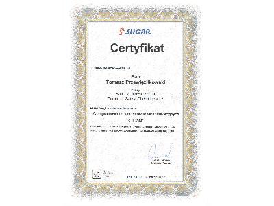 Certyfikat Slican - kliknij, aby powiększyć