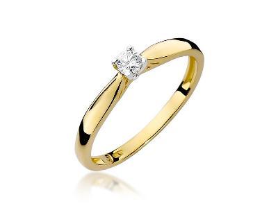 Pierścionek zaręczynowy z brylantem - kliknij, aby powiększyć