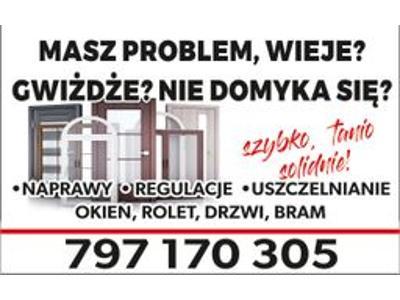 Pogotowie okienne, serwis okien , regulacja okien, naprawa rolet,drzwi