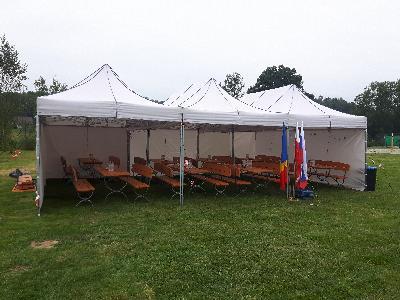 namiot handlowy - ogrodowy 3m x 3m z 3 bokami