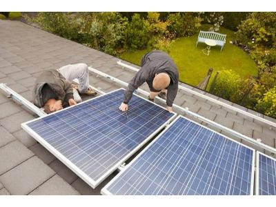 montaż paneli słonecznych  - kliknij, aby powiększyć
